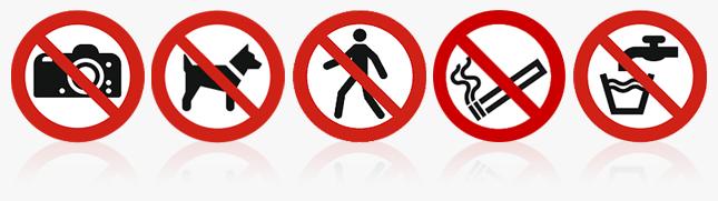 Verbotszeichen ISO 7010